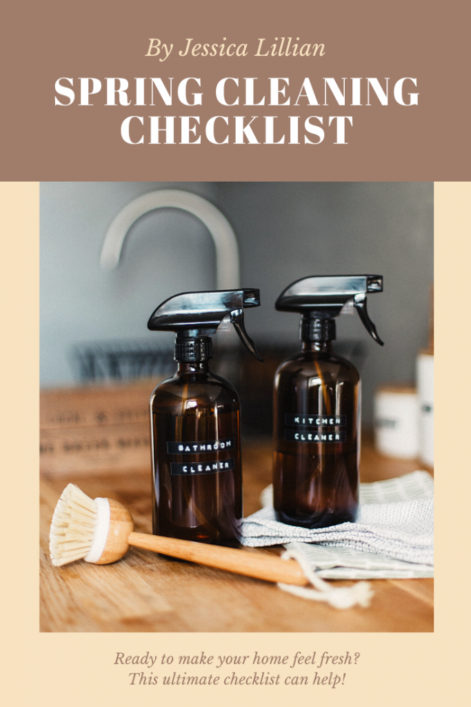 Spring Cleaning Checklist | By Jessica Lillian