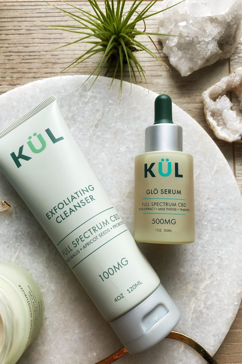 CBD Skincare serum and exfoliator